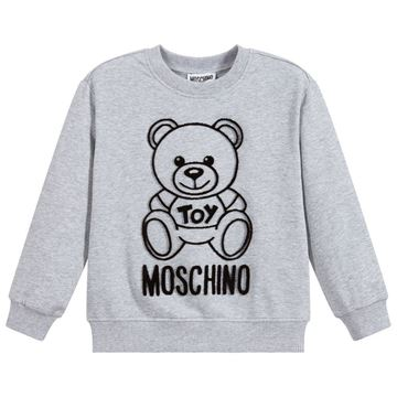 Picture of Moschino Boys Grey Teddy Jumper