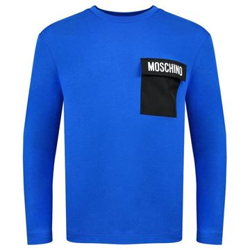 Picture of Moschino Boys Blue Long Sleeve Top
