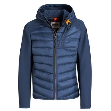 Picture of Parajumpers 'Nolan' Blue Hooded Boys Jacket