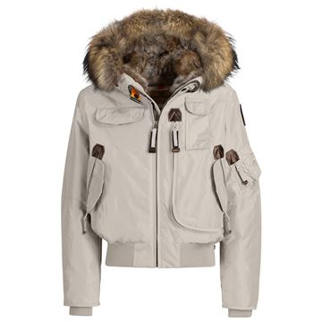 Picture of Parajumpers 'Gobi' Silver Grey Girls Bomber Jacket