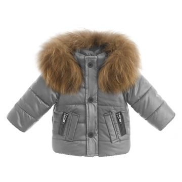 Picture of Bufi Boys Grey Coat with Fur Hood