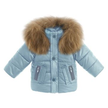 Picture of Bufi Boys Blue Coat with Fur Hood