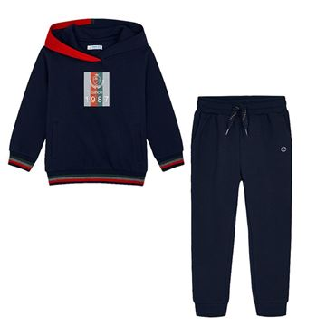 Picture of Mayoral Boys Navy 2 Piece Hooded Tracksuit