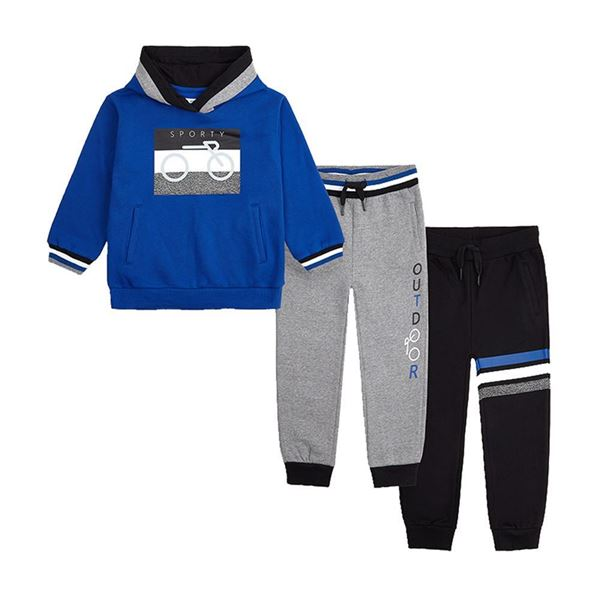 Picture of Mayoral Boys Blue & Grey 3 Piece Tracksuit
