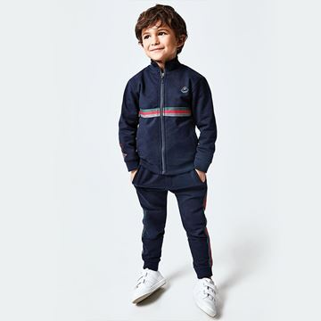 Picture of Mayoral Boys Navy 3 Piece Tracksuit with T-Shirt
