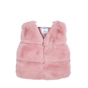 Picture of Mayoral Girl Pink Faux Fur Gilet