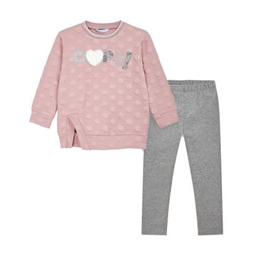 Picture of Mayoral Girls Pink & Grey Leggings Set