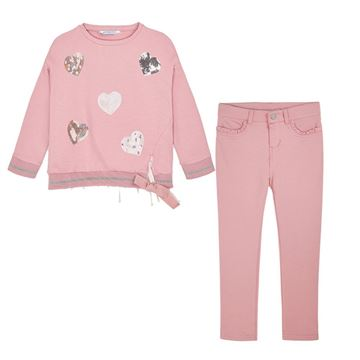 Picture of Mayoral Girls Pink 2 Piece Leggings Set