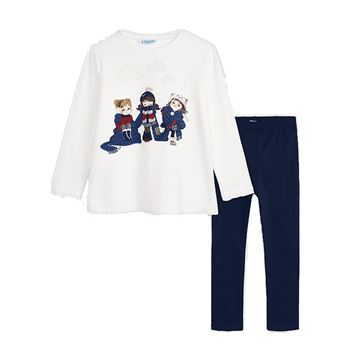 Picture of Mayoral Girls Navy Leggings Set
