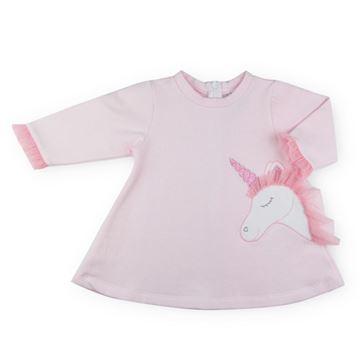 Picture of Sardon Girls Pink Unicorn Dress