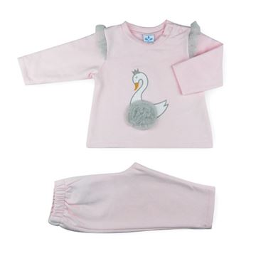 Picture of Sardon Girls Pink Swan Tracksuit
