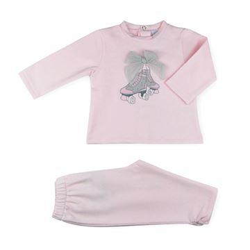 Picture of Sardon Girls Pink & Grey Shoe Tracksuit