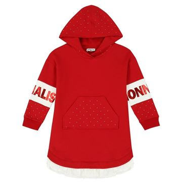 Picture of Monnalisa Girls Red Jumper Dress