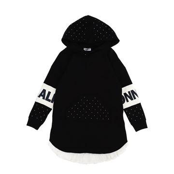 Picture of Monnalisa Girls Black Jumper Dress