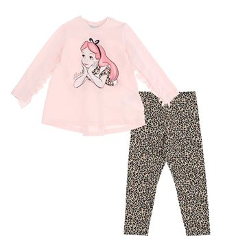 Picture of Monnalisa Girls 'Alice' Pink Tunic & Leopard Leggings