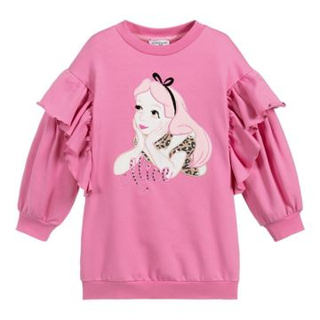 Picture of Monnalisa Girls Pink 'Alice' Jumper Dress