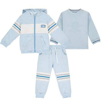 Picture of Mitch & Son Boys 'Ivan' 3 Piece Blue Tracksuit