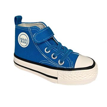 Picture of Mitch & Son Boys Brilliant Blue High Tops