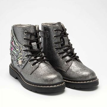 Picture of Lelli Kelly Silver Glitter Patent Wing Boots