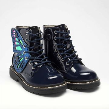 Picture of Lelli Kelly Navy Patent Wing Boots