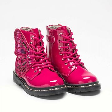 Picture of Lelli Kelly Fuschia Pink Patent Wing Boots
