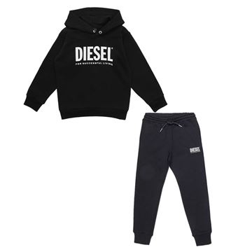 Picture of Diesel Boys Black Tracksuit