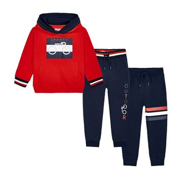 Picture of Mayoral Boys Red & Navy 3 Piece Tracksuit