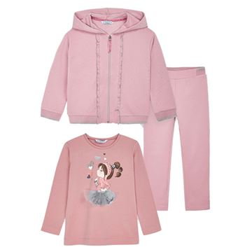 Picture of Mayoral Girls Pink 3 Piece Tracksuit