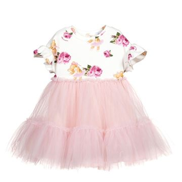 Picture of Monnalisa Baby Girls Pink Tulle Teddy Dress