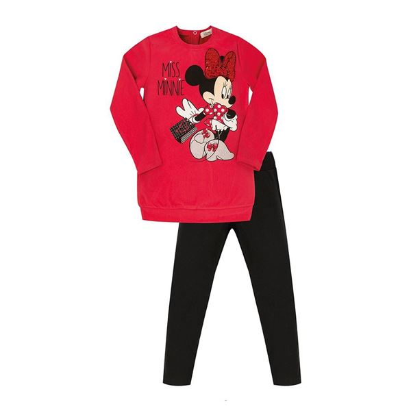 Picture of EMC Girls Minnie Mouse Red Leggings Set