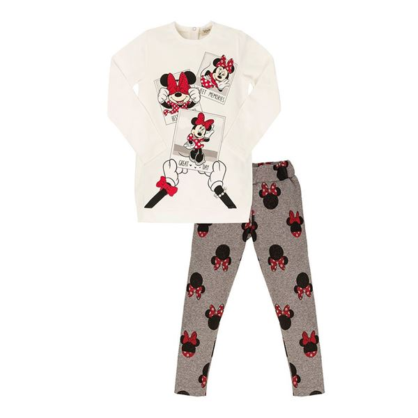 Picture of EMC Girls Minnie Mouse White Leggings Set