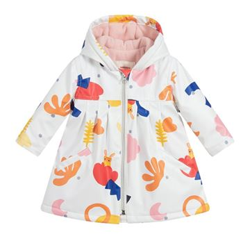 Picture of Catimini Baby Girls White Printed Mac