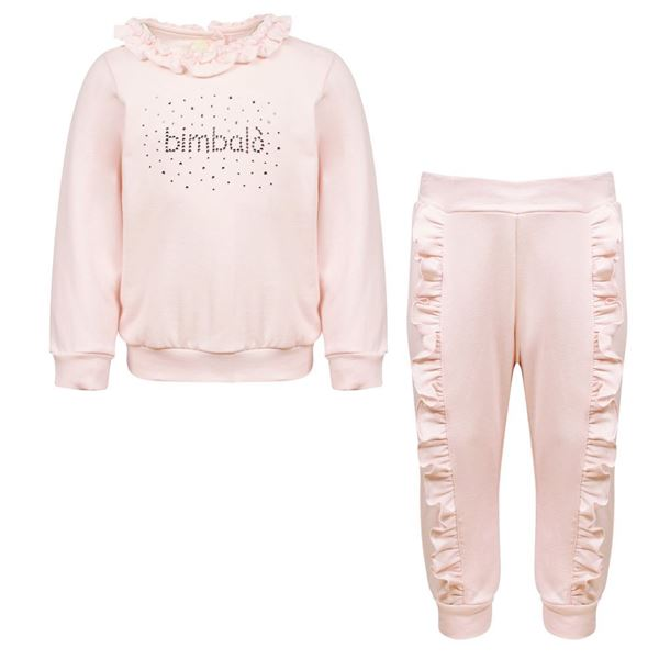 Picture of Bimbalo Girls Baby Pink Tracksuit