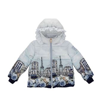 Picture of Monnalisa Girls Blue Paris Coat