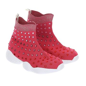 Picture of Monnalisa Girl Fuschia Sock Trainers