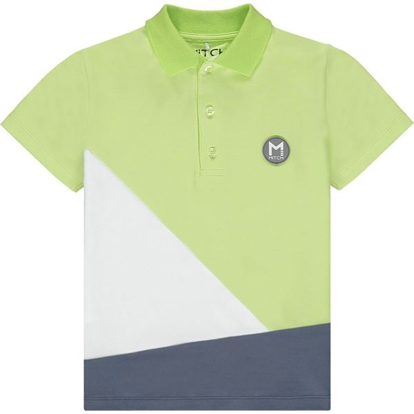 Picture of Mitch 'Washington' Boys Lime Green Polo Top