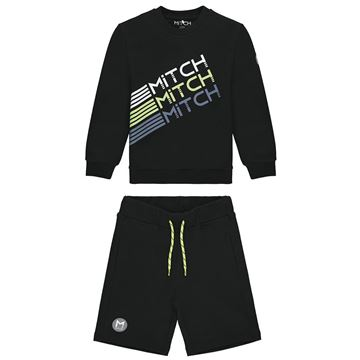 Picture of Mitch 'Utah' Boys Black Sweat Short Set