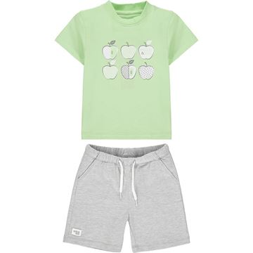 Picture of Mitch & Son 'Gloucester' Boys Green Apple Short Set