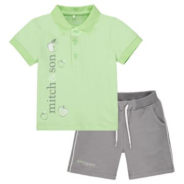 Picture of Mitch & Son 'George' Boys Green Polo Short Set