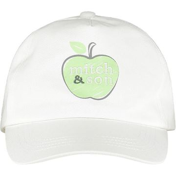 Picture of Mitch & Son 'Grey' Boys White Apple Cap
