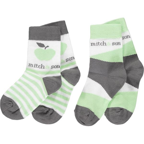 Picture of Mitch & Son 'Grant' Boys Green Apple Socks Pack Of 2