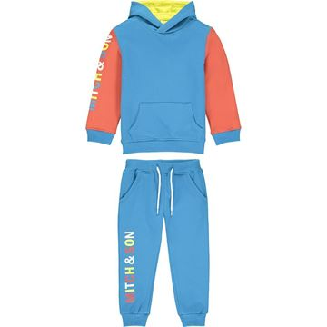 Picture of Mitch & Son 'Cambridge' Boys Blue Hoody Tracksuit