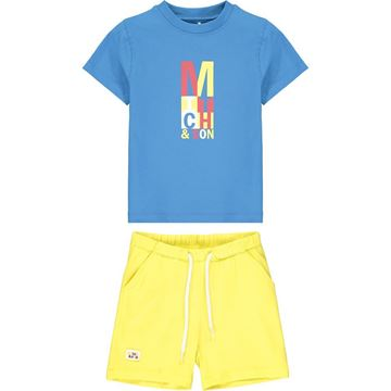 Picture of Mitch & Son 'Congress' Boys Blue Jersey Short Set