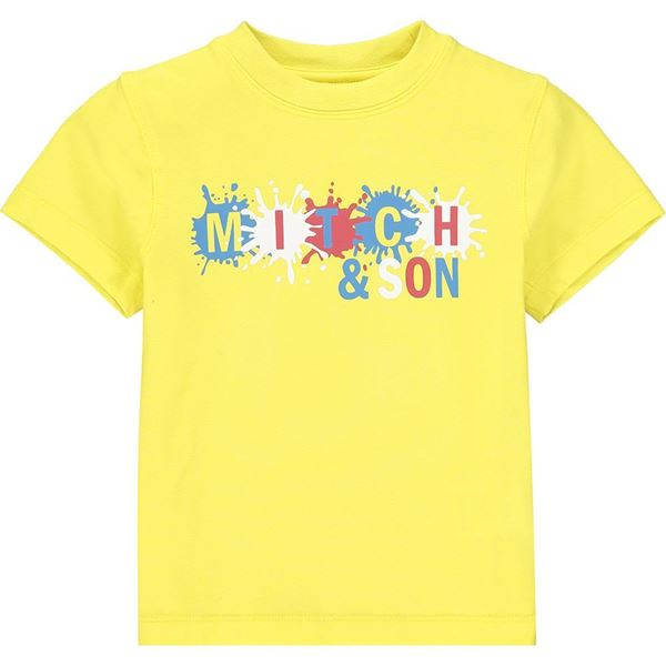Picture of Mitch & Son 'Castle' Yellow T-Shirt
