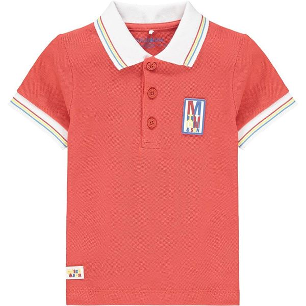 Picture of Mitch & Son 'Carlton' Boys Red Polo Top