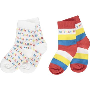 Picture of Mitch & Son 'Cowcaddens' Boys Colour Block Socks Pack Of 2