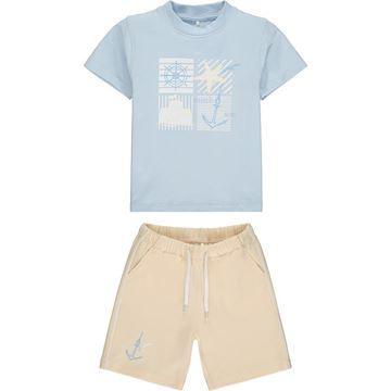 Picture of Mitch & Son 'Bentwick' Boys Pale Blue Jersey Short Set