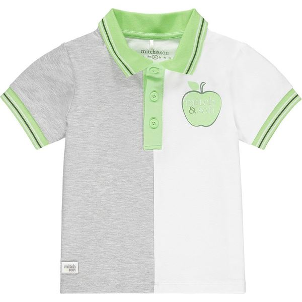 Picture of Mitch & Son 'Gilbert' Boys 2 Tone Green Polo Top