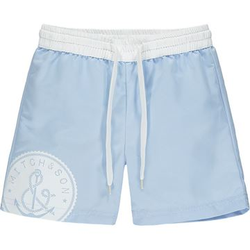 Picture of Mitch & Son 'Braid' Boys Anchor Blue Swim Short