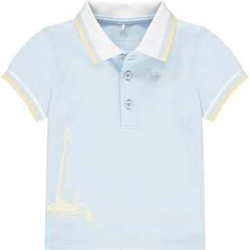 Picture of Mitch & Son 'Bishop' Boys Blue Polo Top